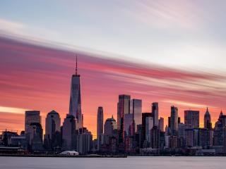 Sunrise Over Lower Manhattan wallpaper