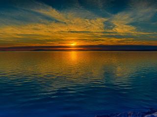 Sunrise Reflection On River wallpaper