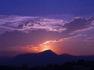 Sunset 4k Mountain Photography 2021 wallpaper