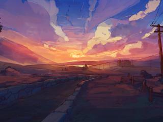 Sunset Artistic Landscape 4k New wallpaper