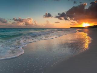 Sunset at Beach HD 2021 wallpaper