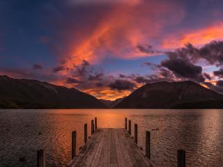 HD Wallpaper | Background Image Sunset At Lake Rotoiti New Zealand