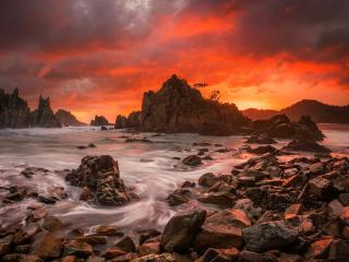 Sunset at Seascape wallpaper