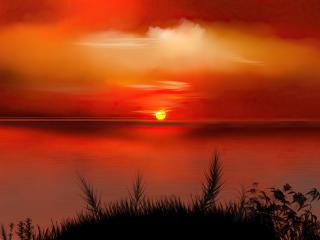Sunset Digital Art 4k wallpaper