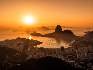 Sunset in Rio De Janeiro 5K wallpaper
