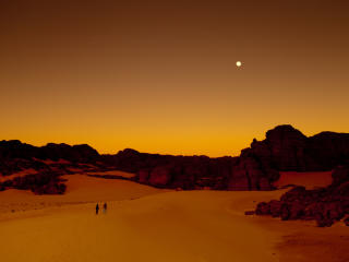 Sunset in Tassili Algeria wallpaper