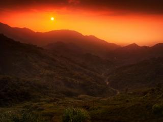 Sunset In Valley wallpaper