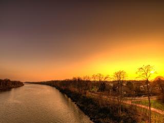 HD Wallpaper | Background Image Sunset Over Weezenhof In Nijmegen Netherlands
