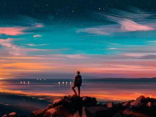 Sunset Point Illustration wallpaper