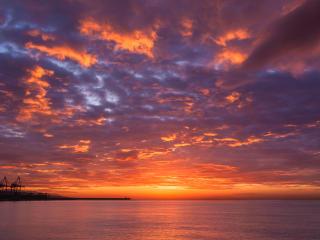 sunset, sea, sky wallpaper