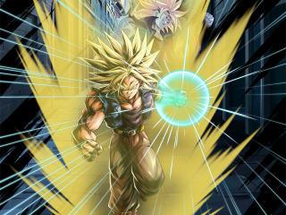 Super Saiyan and Trunks Art Dragon Ball wallpaper