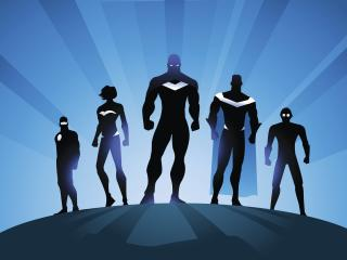 Superheroes Minimalism wallpaper