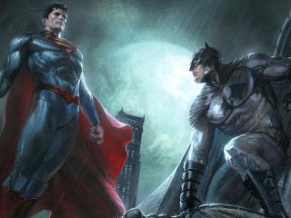 Superman And Batman Dc Comics Superheroes Artwork wallpaper