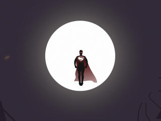 Superman In Moon wallpaper