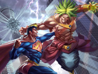 Superman vs Broly wallpaper