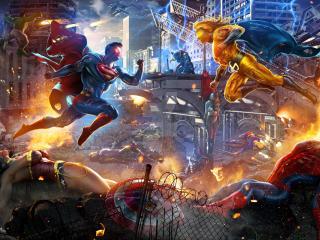 Superman VS Sentry wallpaper