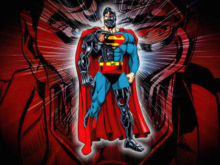 Superman x Cyborg Superman Cool Art wallpaper