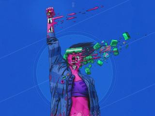 HD Wallpaper | Background Image Surreal Cyberpunk Artwork