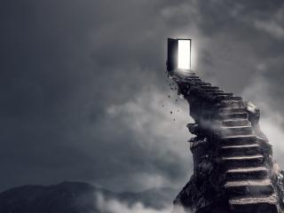 Surrealism Dark Hell Stairs wallpaper