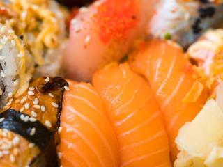 HD Wallpaper | Background Image sushi, rolls, fish
