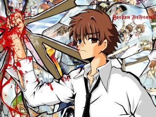 syaoran tsubasa, boy, blood wallpaper