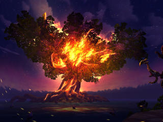 Sylvanas Windrunner Fire Tree World of Warcraft wallpaper