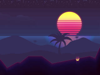 Synthwave 4k wallpaper