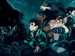Tanjirou and Nezuko wallpaper
