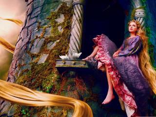 Taylor Swift as rapunzel wallpaper wallpaper
