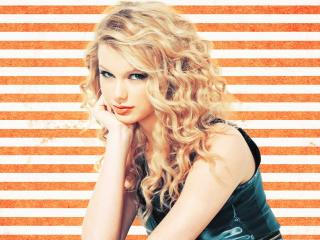 Taylor Swift Orange stripes wallpaper wallpaper