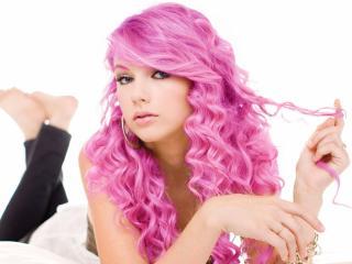 taylor swift, pink hair, hair wallpaper
