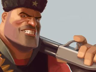 team fortress, smile, face wallpaper