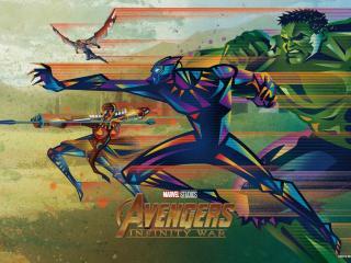 Team Wild Avengers Infinity War Fandango Poster wallpaper