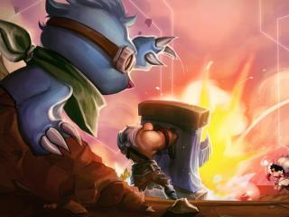 Teamfight Tactics Molediver Featherknight Little Legends wallpaper