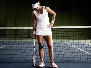 tennis, girl, net wallpaper