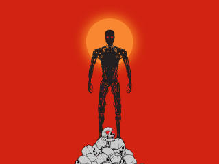 Terminator Dark Fate 4k Minimalist wallpaper