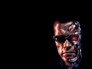 terminator, robot, face wallpaper