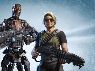 Terminator x Gears 5 wallpaper