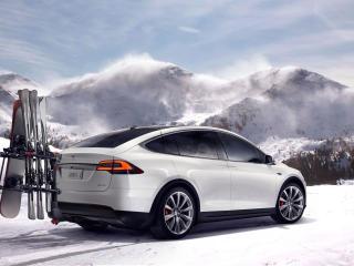 HD Wallpaper | Background Image Tesla Model X In Mountains