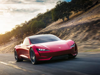 Tesla Red Roadster wallpaper