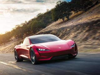 Tesla Red Roadster wallpaper