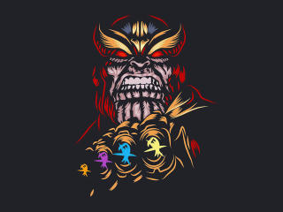 Thanos Dark Minimal 4k 2020 wallpaper