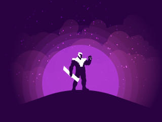 Thanos Endgame Minimalist wallpaper