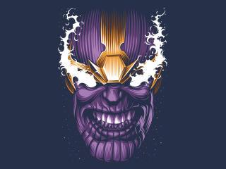 Thanos Face Minimal 4k wallpaper