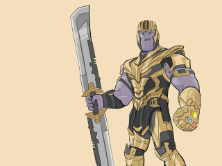 Thanos New Weapon In Avengers Endgame Art wallpaper