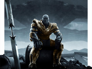 Thanos Sitting In Avengers Endgame wallpaper