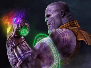 Thanos with Infinity Gauntlet wallpaper
