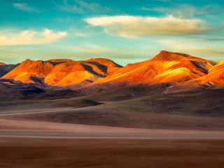 The Andean Mountains at Sunrise wallpaper