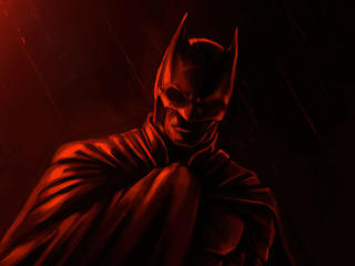 The Batman Movie Red Fan Poster wallpaper