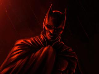 The Batman Movie Red Fan Poster wallpaper